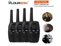 WALKIE TALKIES SET OF 4. 2 way.