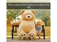 "Giant plush 93"" teddy ideal Christmas gift like new"