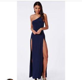 Off the shoulder dress with slits