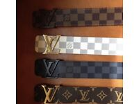 Brand new men's designer belts Louis Vuitton Gucci Versace fendi