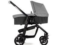 Graco Evo pushchair buggy / pushchair / pram & matching carrycot in slate grey