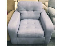 Purple Lilac fabric Armchair