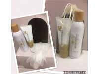 White to brown tanning Gift set