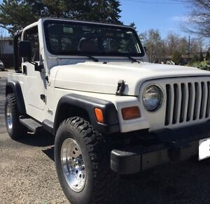 1998 White Jeep TJ - SALE PENDING