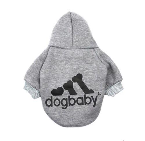 Hundebekleidung Hundeshirt Pullover Hoodie Chihuahua Kleinhund Dogbaby Grau XS