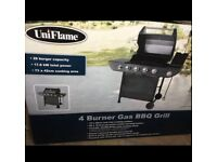 Brand new uniflame 4+1 gas bbq