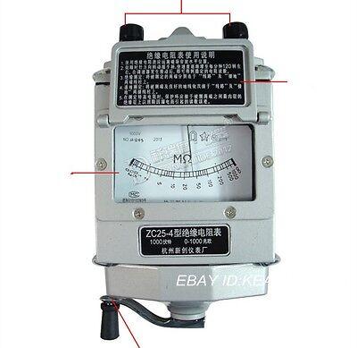 New Hand Megger Meter Insulation Tester Resistance Meter 1000m 1000v Aluminum