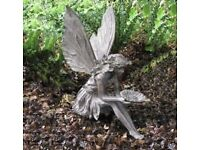 Sitting fairy garden ornament with wings brand new