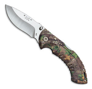 Buck Folding Omni Hunter 10PT Folding Knife - RealTree Xtra Green Camo 395CMS20