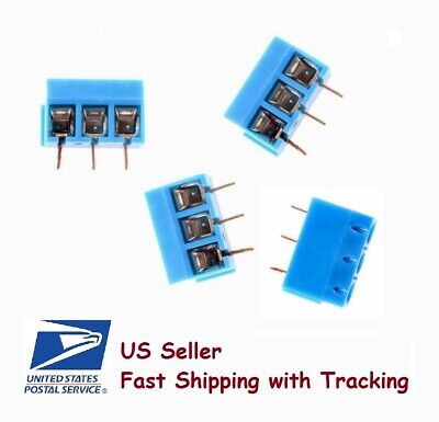 10 Pieces Kf301-3p Screw Terminal Block Connector 3 Pin- Us Seller Fast Shipping