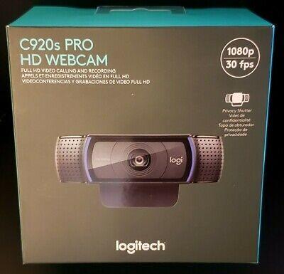 New Logitech C920s Pro HD 1080p Webcam W/ Privacy Shutter Stream Cam 960-001251