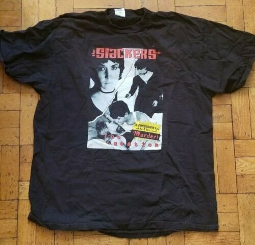 The SLACKERS vintage THE QUESTION TOUR black T.shirt men