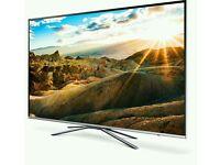 "Samsung UE55KU6400 55"" 4K HDR Ultra-HD Smart LED TV 1600 PQI Silver screen mirror."