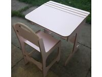 Beautiful SAPLINGS Children's Desk & Chair in PINK (Candy Floss)- perfect condition