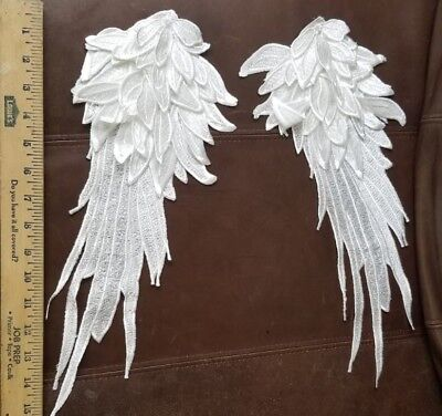 3D Pair Wing angel applique for tops and blouses, costumes jackets sewing,