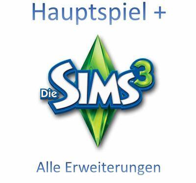 Die Sims 3 Hauptspiel oder Erweiterungen ORGIN key Lizenzschlüssel GLOBAL Spiel