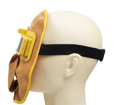 Leather Welding Hood Helmet Auto Darking Filter Lens Sn-t