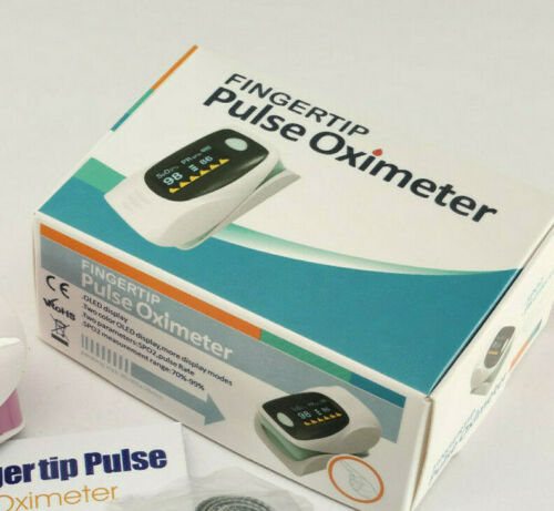 Finger Pulse Oximeter Blood Oxygen Saturation SPO2 Heart Rate O2 Free US Shippin