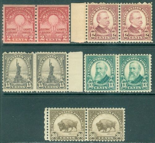 picture of USA : Nice grouping of all Fresh VF, MOG in pairs between Scott #622-700 Cat $96
