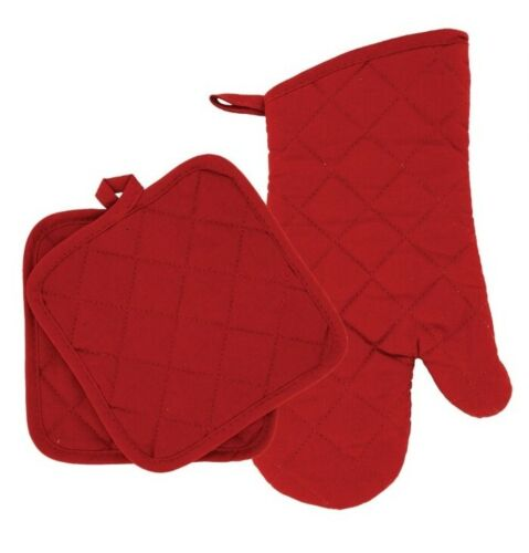 Home Collections - Kitchen Linens - Red - Oven Mitt - Pot Ho
