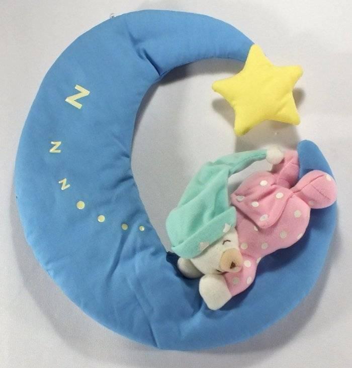 Infantino Baby Nursery Wall Hanging Moon with Sleeping Teddy Bear