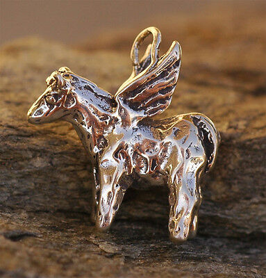 Rustic Angel Horse Pony in Sterling Silver