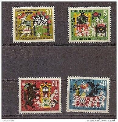 DEUTSCHLAND 1963 NR 408 411 WOHLFAHRT M RCHEN GRIMM POSTFRISCH MNH