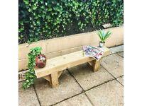 Rustic Reclaimed Sleeper Wooden Bench