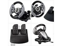 Dates Supersports 3X Steering Wheel for PS3/Xbox 360/PC