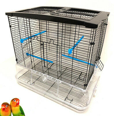 No Mess! Transparent Clear Canary Parakeets Cockatiel LoveBirds Aviary Bird Cage