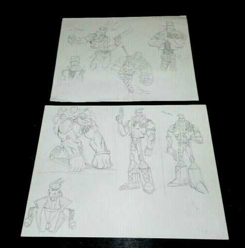 SMALL SOLDIERS MOVIE PRODUCTION DRAWINGS STAN WINSTON STUDIOS GREAT ORIGINAL SET