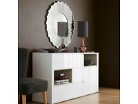 Immaculate white high gloss next valencia edition sideboard