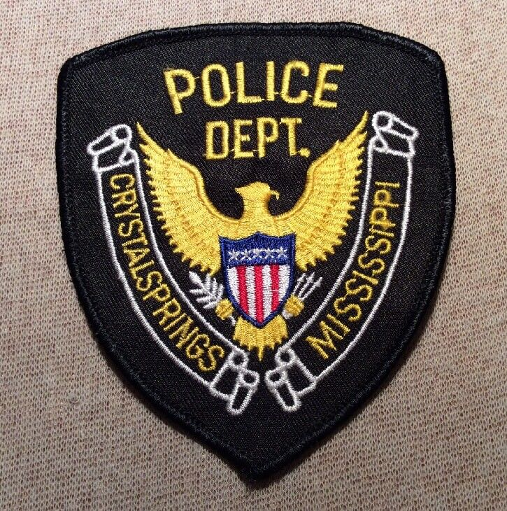 MS Crystal Springs Mississippi Police Patch