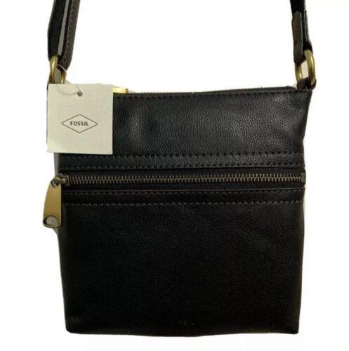 FOSSIL VOYAGER SM XBODY Handbag Ladies Black Leather Crossbo