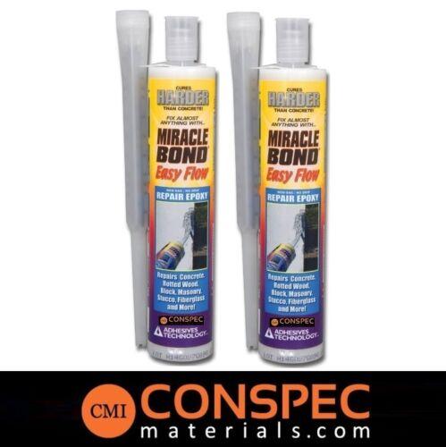 Miracle Bond Easy Flow 1310 Lot of 2 Concrete Crack Repair Epoxy Multi-purpose