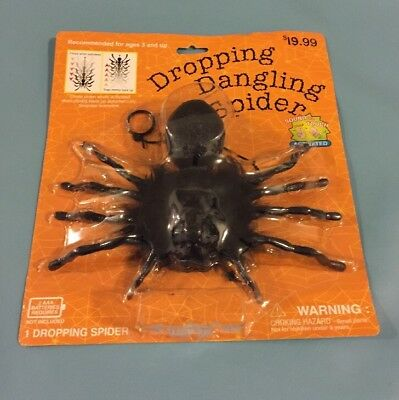 ANIMATED DROPPING DANGLING CLIMBING BLACK SPIDER HALLOWEEN DECOR  (Dropping Spider)