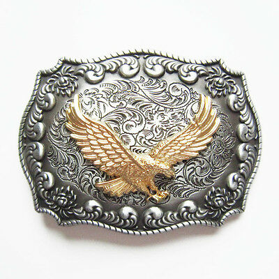 Flying Eagle Rodeo Western Cowboy Metal Belt Buckle
