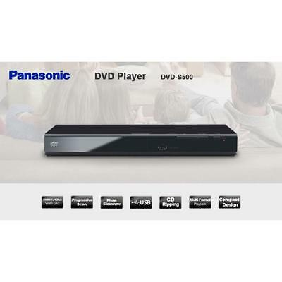 Panasonic DVD-S500 Genuine ALL Regions 0 1 2 3 4 5 6  Multi format DVD Player
