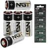 5 X Ngt LRV08 BATTERIES 12v Battery Bite Alarms Carp Fishing VX VC Camo Leeda