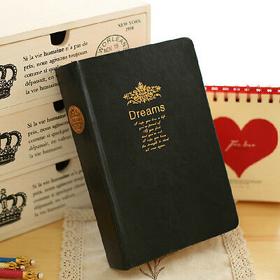 """""""Big Dreams"""" 1pc Luxury Leather Diary Business Planner Notebook Workbook Journal"""
