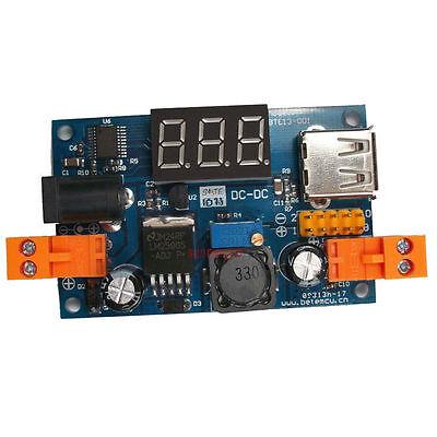 Lm2596 Dc-dc Buck Converter Step-down Power Moduleled Voltmeter Output 1.25-37v