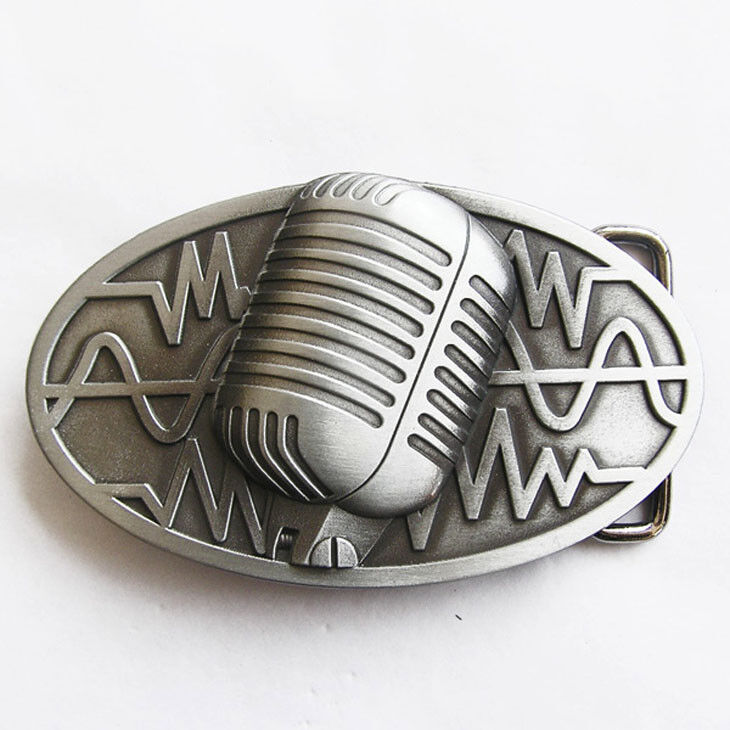 Musician Microphone Music Metal Belt Buckle