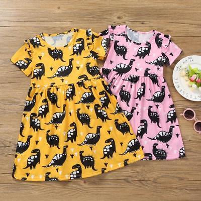 Short Sleeve Tutu - Toddler Kids Baby Girls Short Sleeve Dinosaur Print Party Tutu Dress Clothes