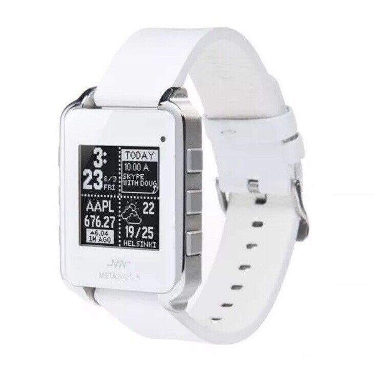 New Meta Watch MW3001 Fitness Monitor Frame White Smartwatch