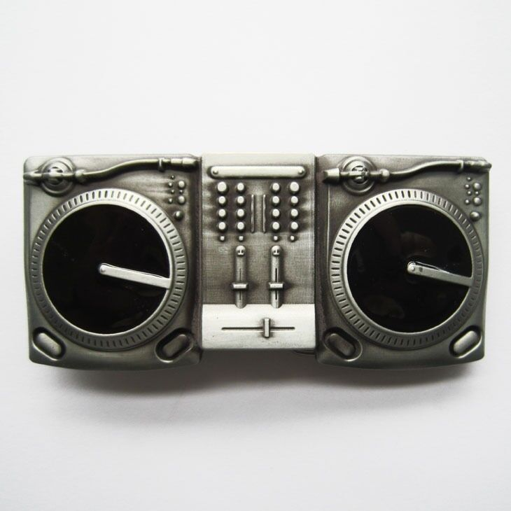 DJ Music Turntables Metal Fashion Belt Buckle