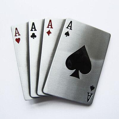 Gürtelschnalle Ace Spade Poker Card