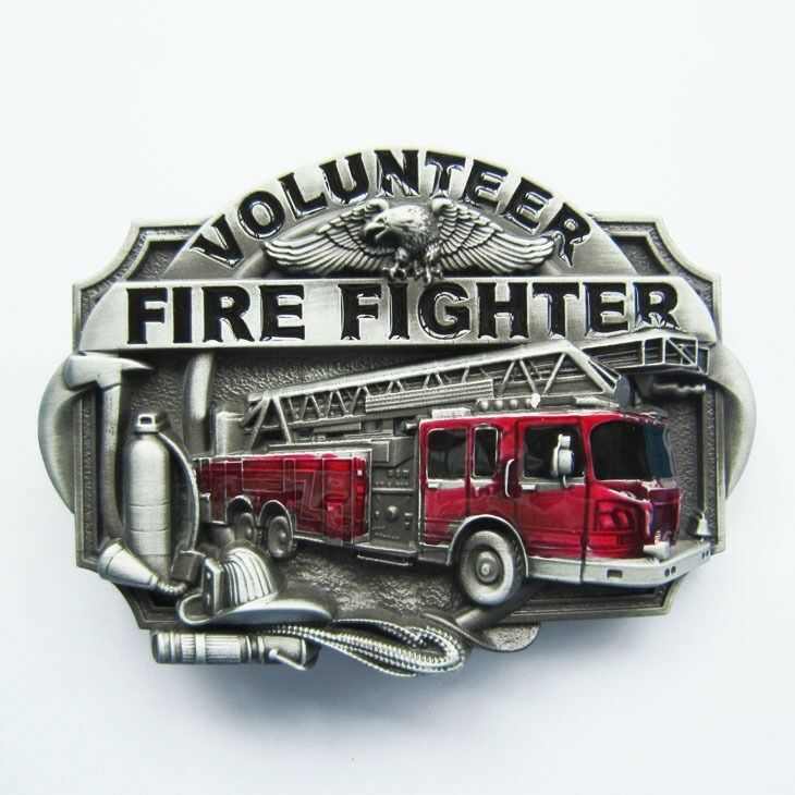 Volunteer Fire Fighter FD Metal Belt Buckle