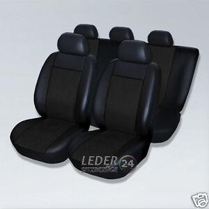 ALCANTARA-X5 SITZBEZÜGE-PREMIUM LEDER Schwarz  BMW 3er E30 E36 E46 E90