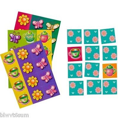 TEA PARTY MATCHING GAME FOR 2-8 PLAYERS  BIRTHDAY SUPPLIES Tea Party Match Game