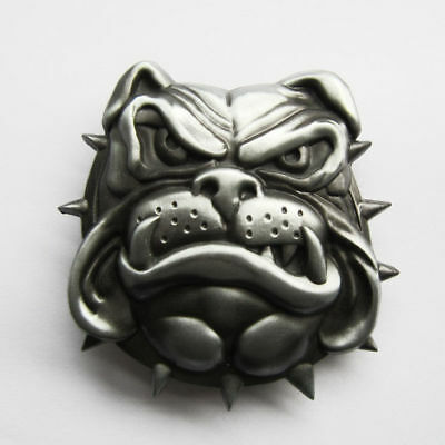 British Bulldog Metal Belt Buckle